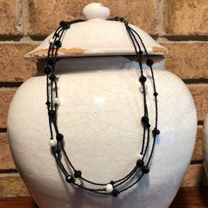White House Black Market 3-Strand Beaded Necklace
